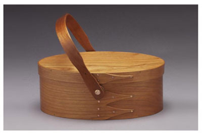 Shaker Swing Handle Oval Sewing Box