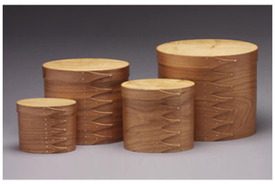 Shaker Tall Oval Boxes