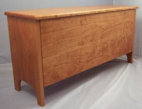 "Storage bench 12"" deep in cherry"