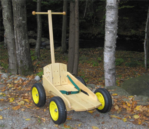 "The Great Northern TIMB'R TREK'R"" - Wooden Push Cart"