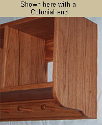 wall storage cubby with colonial end