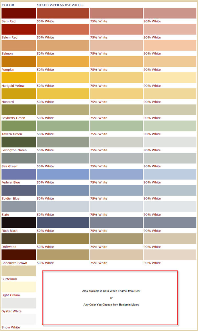 Benjamin moore color chart bing images for Benjamin moore exterior paint color chart