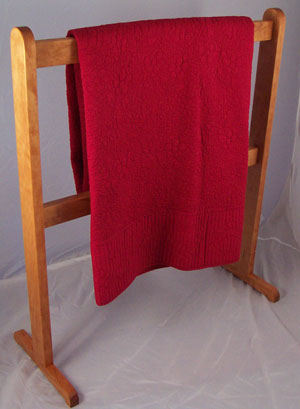 solid cherry Shaker quilt rack