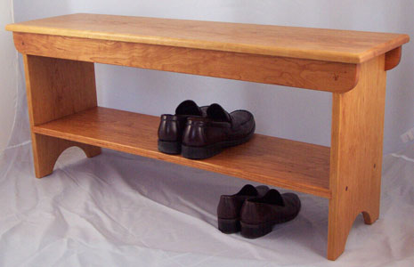 Cherry Shoe Bench