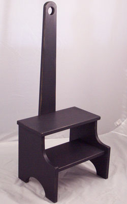 Black step stool