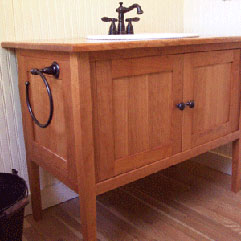 Shaker Styled Cherry Bathroom Vanity